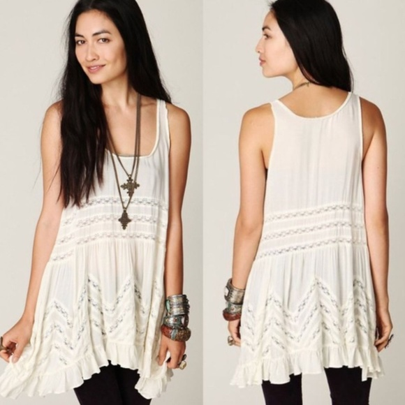 Free People Dresses & Skirts - NWOT Free People voile lace trapeze slip dress